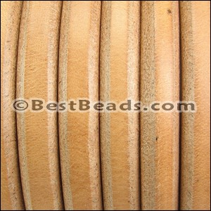 Regaliz® Leather Oval NATURAL RAW - per meter