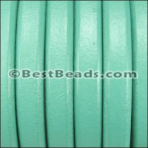 Regaliz® Leather Oval TURQUOISE - per 1 meter