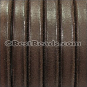 Regaliz® Leather Wire Core with hole BROWN - per meter