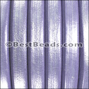Regaliz® Leather Oval METALLIC LILAC  - per 25m SPOOL