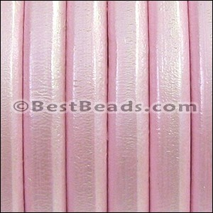 Regaliz® Leather Oval METALLIC ROSE - per 1 meter