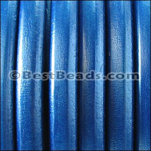 Regaliz® Leather Oval METALLIC COBALT - per 1 meter