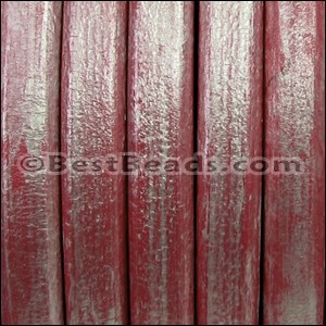 Regaliz® Leather Oval METALLIC CHERRY - per meter