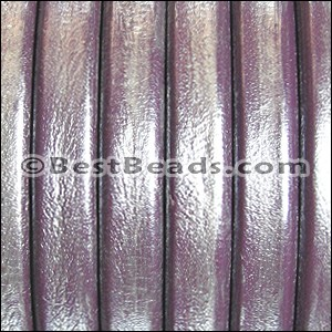 Regaliz® Leather Oval METALLIC PURPLE - per meter