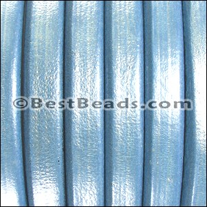 Regaliz® Leather Oval METALLIC SKY BLUE  - per 25m SPOOL