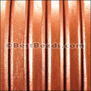 Regaliz® Leather Oval METALLIC COPPER  - per 25m SPOOL