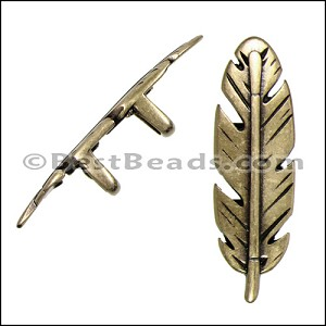 Regaliz® FEATHER spacer ANT BRASS - per 10 pieces