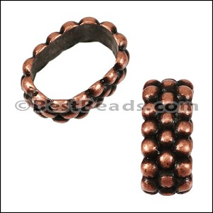 Regaliz® TRIPLE DOT RING spacer ANT COPPER - per 10 pieces