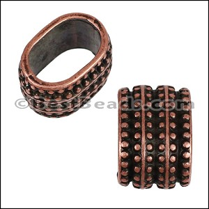 Regaliz® TRIPLE REGAL spacer ANT COPPER - per 10 pieces