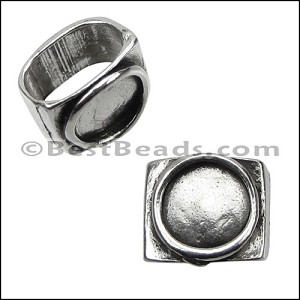 Regaliz® BLANK RESIN spacer (no stone) ANT SILVER - per 10 pieces