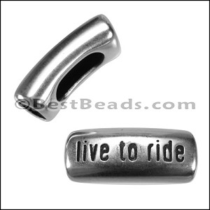 Regaliz® LIVE TO RIDE spacer ANT SILVER - per 10 pieces