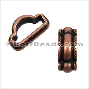 Mini Regaliz® WIDE ROPE stitched spacer ANT COPPER - per 10 pieces