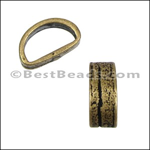Mini Regaliz® THIN BARK oval spacer ANT BRASS - per 10 pieces