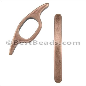 Regaliz® LONG CURVED BAR spacer ANT. COPPER - per 10 pieces