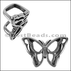 Regaliz® OPEN BUTTERFLY spacer ANT. SILVER - per 10 pieces