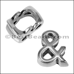 Regaliz alpha & spacer per 10 pieces ANT. SILVER