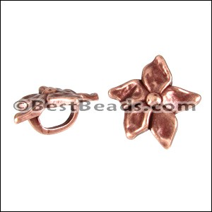 Regaliz® LARGE FLOWER spacer ANT. COPPER - per 10 pieces