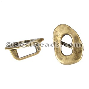 Regaliz® OVAL BUCKLE spacer ANT. BRASS - per 10 pieces