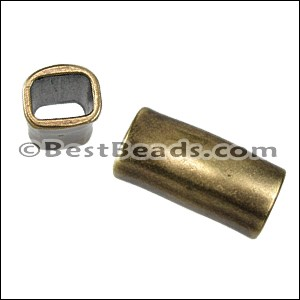 Regaliz® LONG TUBE spacer ANT. BRASS - per 10 pieces
