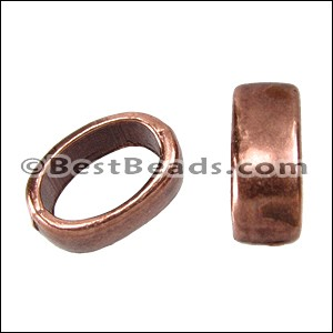 Regaliz® SLICE RING spacer ANT. COPPER - per 10 pieces