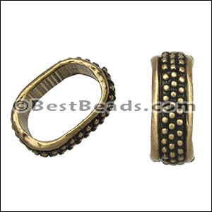 Regaliz® MEDIUM DOTS spacer ANT. BRASS - per 10 pieces