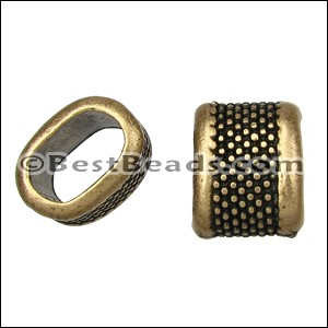 Regaliz® LARGE DOTS spacer ANT. BRASS - per 10 pieces