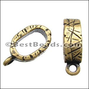 Regaliz® ETCHED CHARM HOLDER spacer ANT. BRASS - per 10 pieces