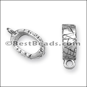 Regaliz® ETCHED CHARM HOLDER spacer ANT. SILVER - per 10 pieces