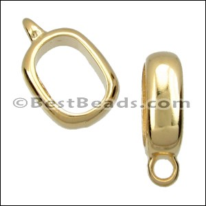 Regaliz® CHARM HOLDER spacer SHINY GOLD - per 10 pieces