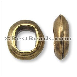 Regaliz® OVAL RING spacer ANT. BRASS - per 10 pieces