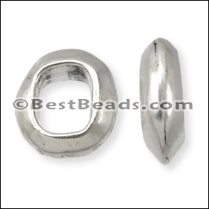 Regaliz® OVAL RING spacer ANT. SILVER - per 10 pieces
