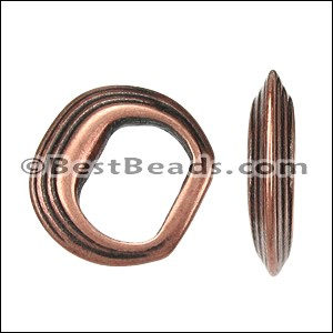 Regaliz® STACKED RINGS spacer ANT. COPPER - per 10 pieces