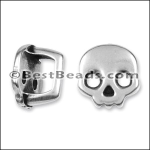 Regaliz® SKULL spacer ANT. SILVER - per 10 pieces