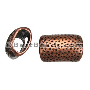 Regaliz® HAMMERED spacer ANT. COPPER - per 10 pieces