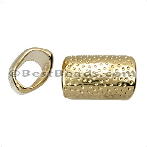 Regaliz® HAMMERED spacer SHINY GOLD - per 10 pieces