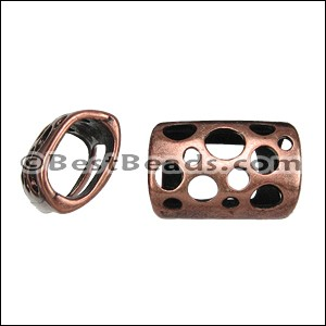 Regaliz® TUBE WITH HOLES spacer ANT. COPPER - per 10 pieces