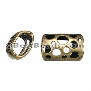 Regaliz® TUBE WITH HOLES spacer ANT. BRASS - per 10 pieces
