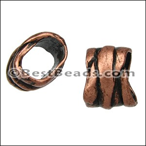 Regaliz® RIBBON WRAP spacer ANT. COPPER - per 10 pieces
