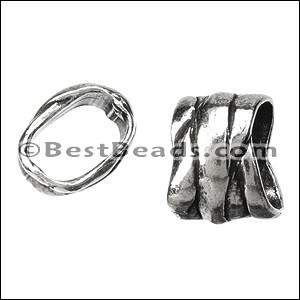 Regaliz® RIBBON WRAP spacer ANT. SILVER - per 10 pieces