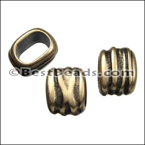 Regaliz® SCRUNCH spacer ANT. BRASS - per 10 pieces