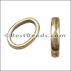 Regaliz® OVAL SLICE spacer ANT. BRASS - per 10 pieces