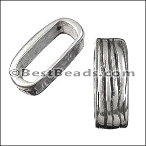 Regaliz® TWO STRAND BARK SLICE spacer ANT. SILVER - per 10 pieces