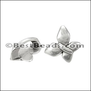 Regaliz® BUTTERFLY spacer ANT. SILVER - per 10 pieces