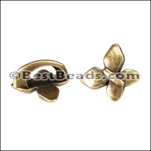 Regaliz® BUTTERFLY spacer ANT. BRASS - per 10 pieces