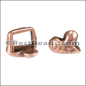 Regaliz® HEART spacer ANT. COPPER - per 10 pieces