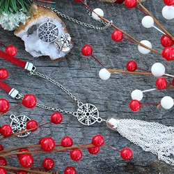 Snowflake and Suede Necklace