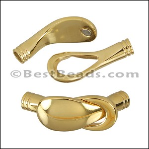 5mm round STAINLESS STEEL magnetic clasp STYLE 3 - GOLD - per 10 clasps