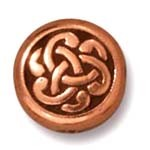 celtic triad bead ANTIQUE COPPER