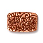 rectangle scroll bead ANTIQUE COPPER