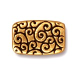 rectangle scroll bead ANTIQUE GOLD